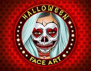 Models Halloween Face Art